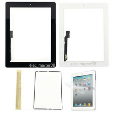 White & Black Front Touch Screen Glass Digitizer+Home Flex+Film For Apple iPad 3