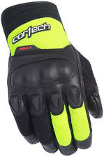 CORTECH HDX 3 Textile/Leather Motorcycle Gloves (Black/Yellow) Choose Size
