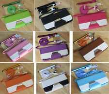 Luxury PU Leather Credit Card Flip Pouch Stand Wallet Case Cover For iPhone 5 5S