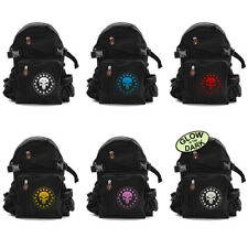 Three Percenter Punisher Skull Canvas Black Backpack Army Camping School Bag NEW