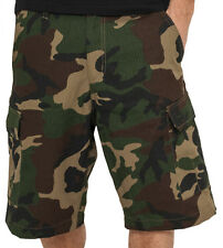 Urban Classics Cargo Shorts Wood Camo TB517 Rip Stop Cotton Men's