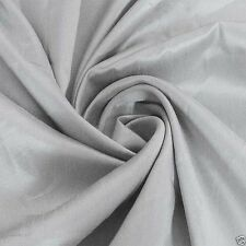 Silver Grey FAUX SILK TAFFETA FABRIC,for Dress Clothing/ Cushion Cover#49