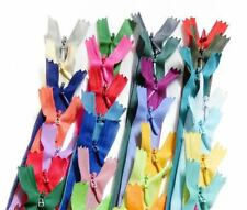 """wholesale 14""""/36cm assorted mixed colors closed end invisible hidden zippers"""