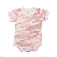 Crazy Baby Digital Camo Pink Army Short Sleeve Bodysuit Infant Military Onesie