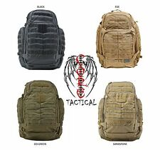 5.11 TACTICAL RUSH 72 BACKPACK COLORS BLACK, FDE, OD GREEN, SANDSTONE