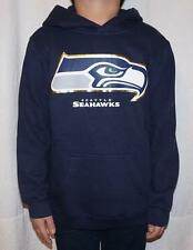 NWT Seattle Seahawks NFL Youth Primary Logo Fleece Hoodie Sweatshirt