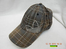 ADIDAS SNAPBACK HAT! BROWNISH PLAID! W/TAG! USED! PRE-WORN! PRE-OWNED! AS IS!