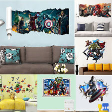 DC Comics Marvel The Avengers Wall Stickers Team Art Home Room Decal Decoration