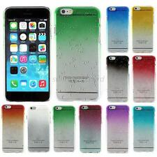 For iPhone 6 6g Ultra-Thin Chrome Hard Back New Mini Case Cover Raindrop U15