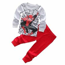 """Spiderman"" Children Baby Toddler Clothing Kids Boys Pajamas Sleepwear  Set 2-7T"