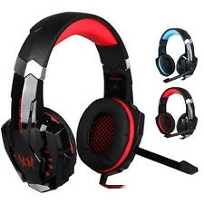 G9000 Stereo Gaming Headphone Computer Game Headset Mic For Phone Red LED Light