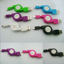 New Mini Retractable Micro USB Data Sync Charger Cable For Samsung HTC Android