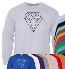 Shape Diamond Mens Boys Sweater Jumper SweatShirt Gift Crew Neck Pullover Sweat