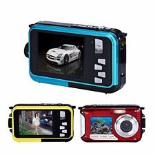 "2.7 "" Double Screen Waterproof Camera 24MP Full HD 16x Zoom Dive Camera 3 Color"