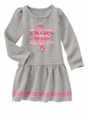 NWT GYMBOREE Fair Isle Flurry Snowflake Long sleeve Sweater dress 5,6,7,8