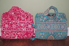 Vera Bradley TOTALLY TURQ or TWIRLY BIRD PINK Cosmetic Travel HANGING ORGANIZER
