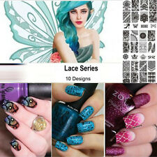 New Ladies Nail Art DIY Template Lace Design Pattern Image Stamping Steel Plates