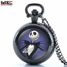 Antique Nightmare Before Christmas Vintage Pocket Watch Quartz Chain Gift Retro