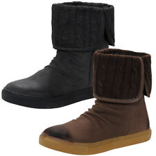 Danni Foldover Knitted Top Flat Boots  womens Size
