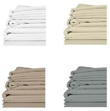 100% Organic Bamboo Queen Size Bed Sheet Set Twill 4 pc 300TC (1000TC in Cotton)