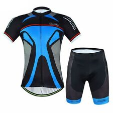 Men Cycling Jerseys Bib Shorts Bike T shirts Sports Bicycle Clothing Wear S-XXXL