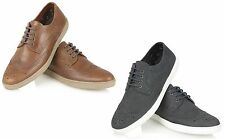 RT Mens Real Leather Brogues Lace Up Trainers Casual Pump Shoes Size