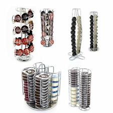 Coffee Capsule Pod Rotating Standing Tower Rack Dolce Gusto Tassimo Nespresso