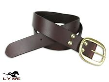Leather Belt Mens Genuine Fashion New Quality Buckle Large Waist HARD WEAR LYNE