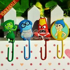 Mixed 100PCS Inside Out Cartoon Bookmarks,PVC Paper Clips Office Supplies Gifts