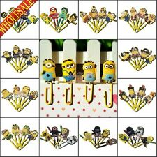 100PCS Cartoon Paper Clips Bookmarks,School Supplies Stationery kids gifts