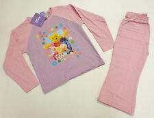 BRAND NEW GIRLS WINNIE THE POOH PINK & LILAC PYJAMAS AGES 2-3, 3-4, 5-6 & 7-8