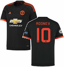 ADIDAS WAYNE ROONEY MANCHESTER UNITED CHAMPIONS LEAGUE 3RD JERSEY 2015/16