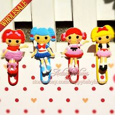 4PCS The Lalaloopsy Novelty Cartoon Bookmarks Staionery Paperclips,Child gifts