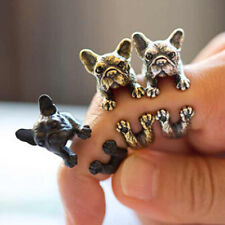 Fashion Cute Dog Ring Pet Antique Vintage Animal Gift Puppy Wrap Adjustable BE