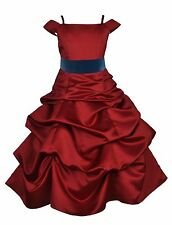 NEW APPLE RED SPAGHETTI STRAP FLOWER GIRL DRESS CHRISTMAS 2 2T 4 5T 6 8 10 12 14