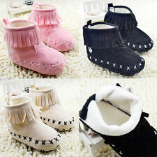 Popular Kids Baby Girls Tassels Boots Soft Bottom Shoes Toddler Snow Boots
