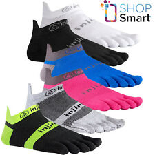 INJINJI PERFORMANCE RUN TOE SOCKS NO SHOW LIGHTWEIGHT ULTRA THIN FIVE FINGER NEW
