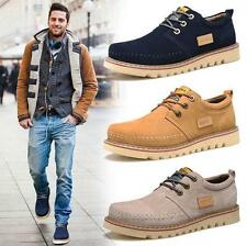 Fashion New Men's casual suede leather work hiking sneaker shoes Size 7-11