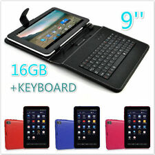 "9"" Inch 16GB Quad Core Android 4.4 WIFI Tablet Dual Cam + Keyboard Case"