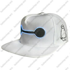 New Big Hero 6 Baymax Snapback Hat Ball Embroidered El wire Light Up Cap