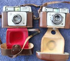 1960's Ilford Sportsman 35mm Cameras -One With VXM Lever Self Timer Plus Case