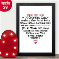 Valentines Gifts PERSONALISED Presents for Valentines Day Him Her Husband Wife