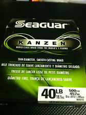 SEAGUAR KANZEN -- 40 lbs - 500 YDS ADVANCE MICROFIBERS SMOOTH CASTING SENSITIVE
