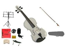 """New Acoustic WHITE Student Viola,Case,Bow+Much More 16""""15""""14""""13""""12""""11""""10"""""""