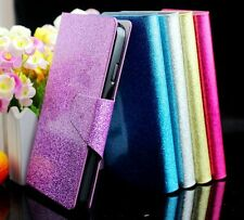 For MOTOROLA MOTO Droid RAZR XT910 Glittery PU Leather Flip Wallet Case Cover