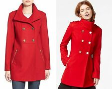 Guess winter jacket Double Breasted Wool Blend Swing Coat RED NEW $299