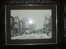 Framed signed detailed old print by George colley  Hartlepool NE area