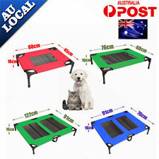 NEW=PRO Pet Dog Bed Trampoline Hammock Bed Foldable Frame Bed Cat Puppy Cover AU