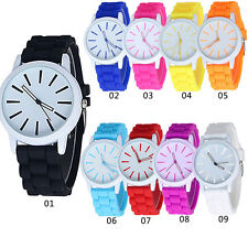 Mens Boys Girls Silicone Jelly Sports Quartz Wrist Watch New Relojes Mujer