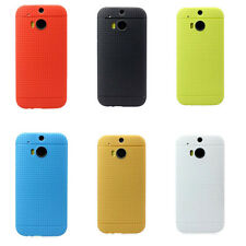 Stylish Shock-proof Multihole Dots Gel TPU Case Cover Skin Shield for HTC ONE M8